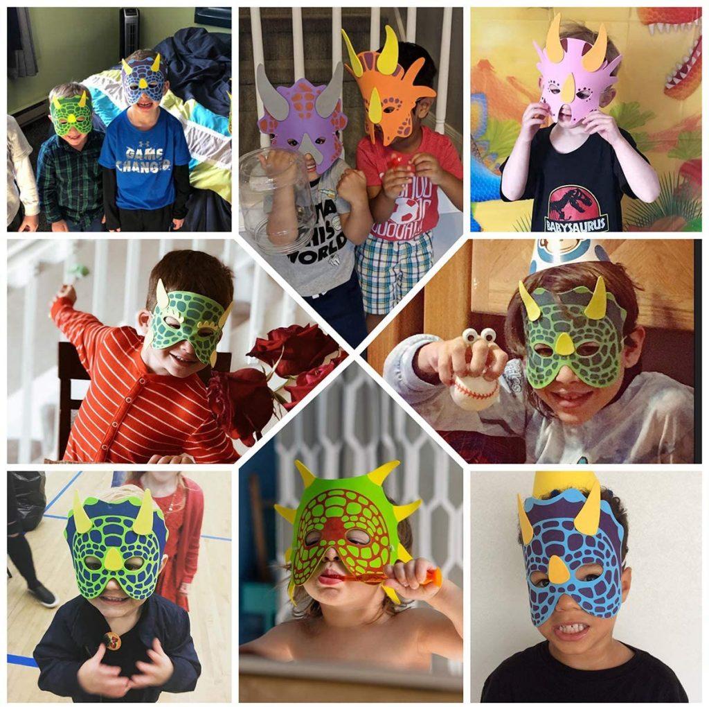 Dinosaur-party-Dinosaur-Foam-Masks
