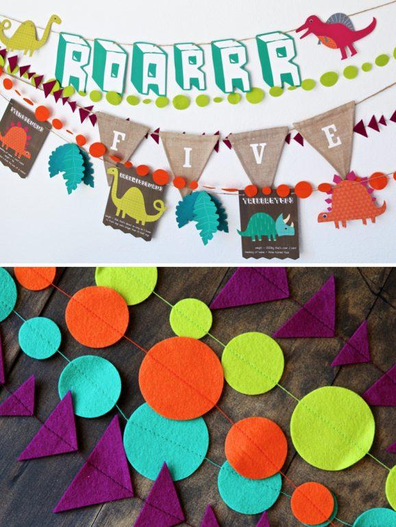 Dinosaur-party-Festive-Dinosaur-Birthday-Garlands