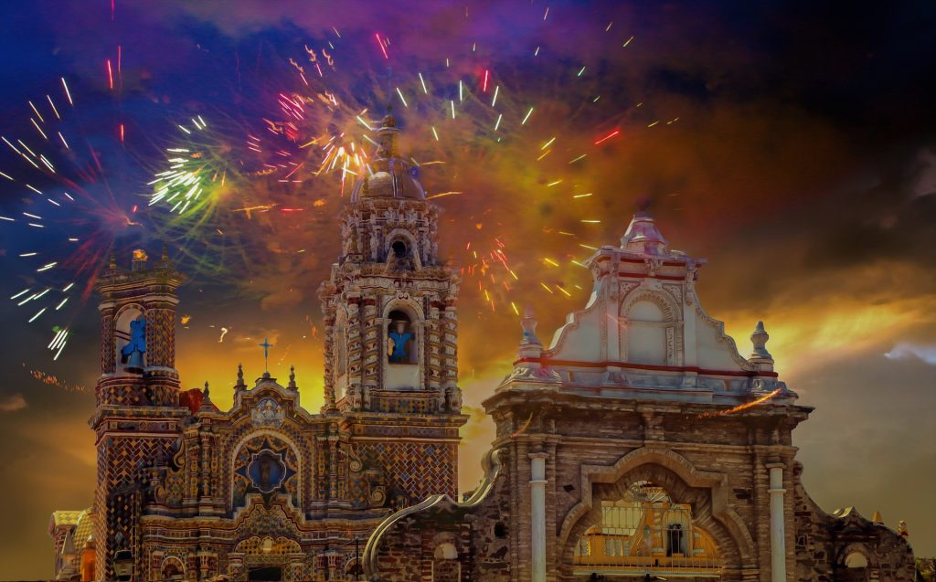 new-years-celebration-fireworks-from-a-Mexican-church