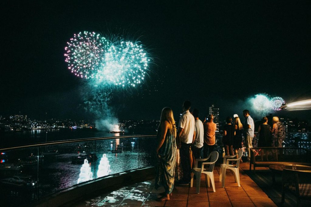 new-years-eve-fireworks-from-the-cruise-ship-at-Sydney-Harbour