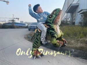 Lifelike Boy Riding Dinosaur Costume
