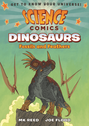 dinosaur-comic-books-Fossils-and-Feathers-by-M.K.-Reed