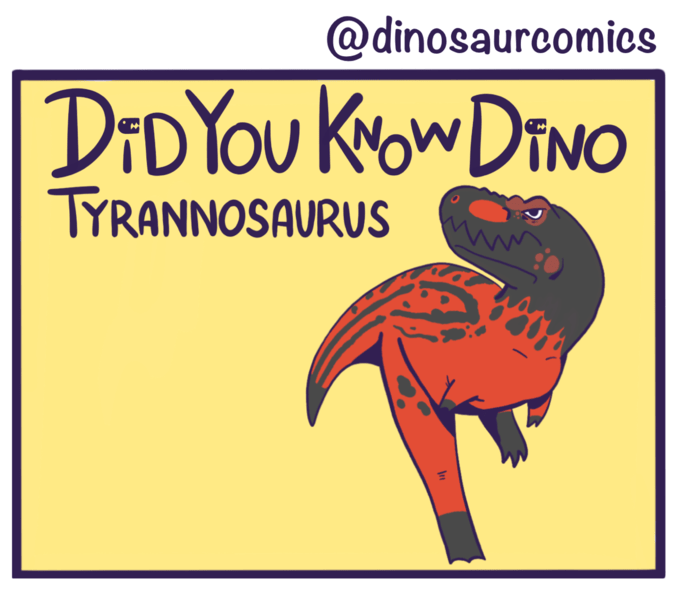 dinosaur-comics-an-orange-and-black-T-Rex-in-a-comic-panel-from-the-webtoon-Did-You-Know-Dinosaur-by-Dinosauria-Comics