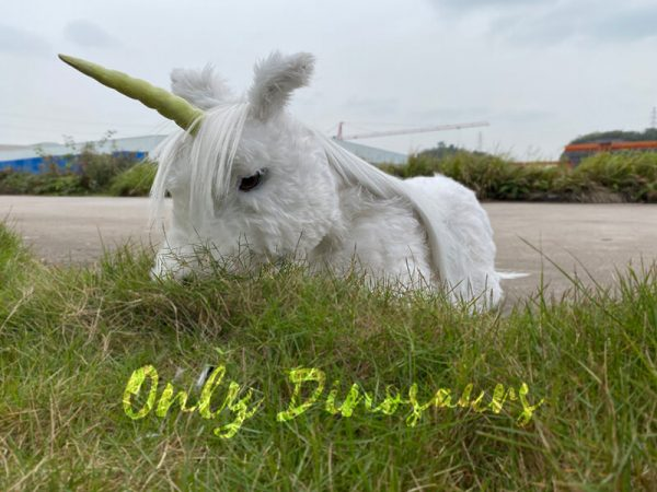 Adorable-White-Baby-Unicorn-with-Soft-Fur-2