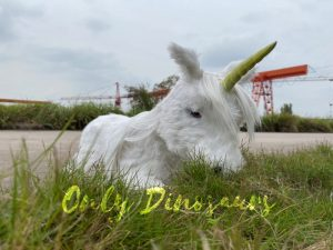 Adorable White Baby Unicorn with Soft Fur