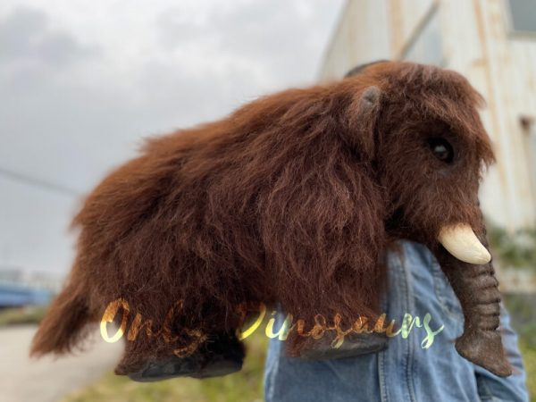 Brown-Baby-Mammoth-Puppet-with-Cute-Appearance-2