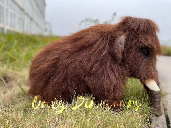 Brown-Baby-Mammoth-Puppet-with-Cute-Appearance-5