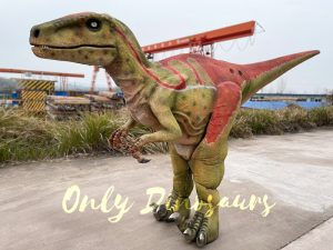 Realistic Adult Velociraptor Costume with Hidden Legs