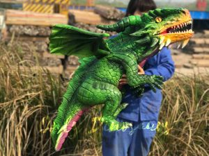 Vivid Green Baby Flying Dragon Puppet for Kids