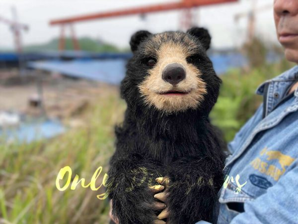 Adorable-Handheld-Baby-Black-Bear-Puppet2