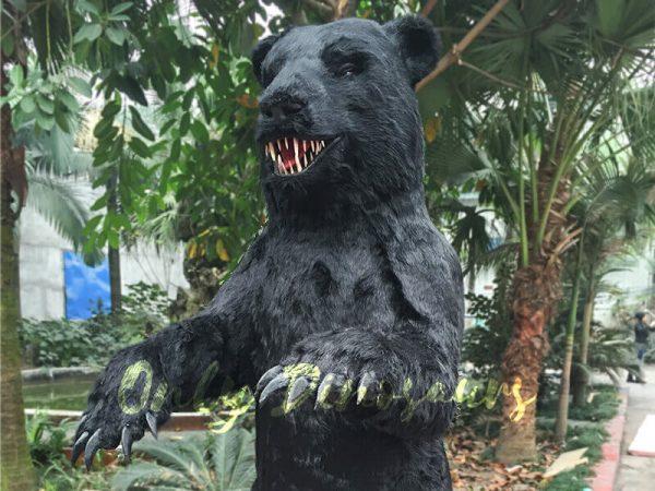 Black-Animatronic-Bear-with-Sharp-Teeth-2