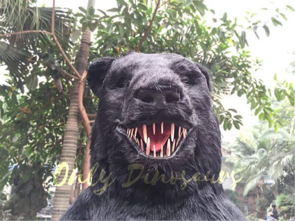 Black-Animatronic-Bear-with-Sharp-Teeth-6