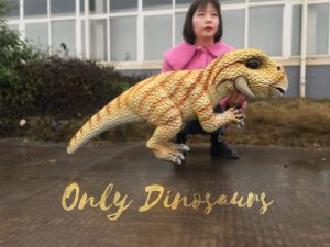 Lifelike Baby Psittacosaurus Puppet  with Stripes