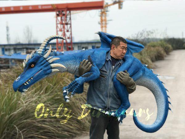 Eye-catching-Blue-Shoulder-Flying-Dragon-Puppet3