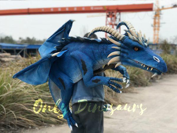 Eye-catching-Blue-Shoulder-Flying-Dragon-Puppet4