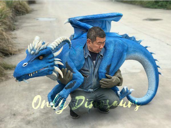 Eye-catching-Blue-Shoulder-Flying-Dragon-Puppet5
