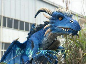 Eye-catching Blue Shoulder Flying Dragon Puppet