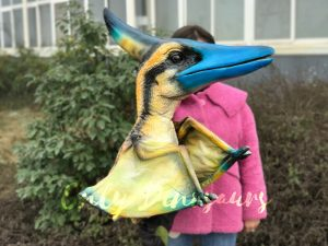 Fascinating Lifelike Baby Pterosaur Hand Puppet