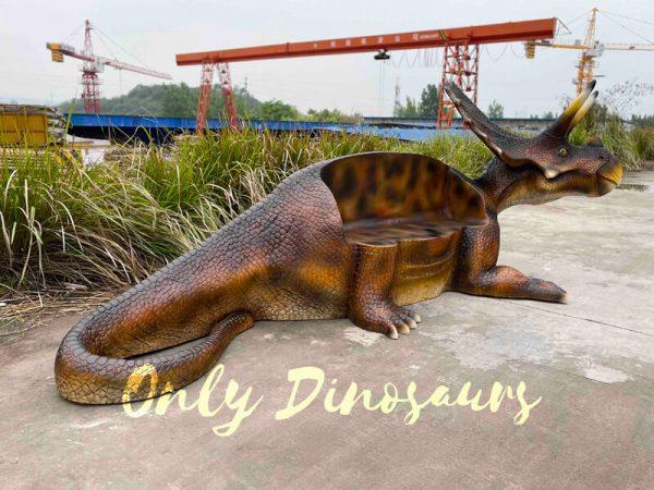 Funny-Fiberglass-Dinosaur-Triceratops-Bench5