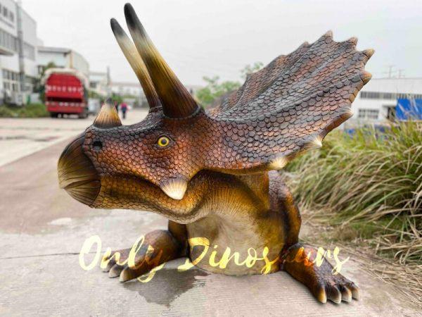 Funny-Fiberglass-Dinosaur-Triceratops-Bench6