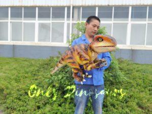 Lifelike Customizable Baby Raptor Dinosaur Hand Puppet