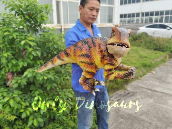 Lifelike-Customizable-Baby-Raptor-Dinosaur-Hand-Puppet2