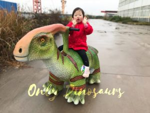 Life Size Parasaurolophus Dinosaur Ride For Sale