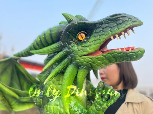Realistic-Flying-Green-Baby-Dragon-Puppet3