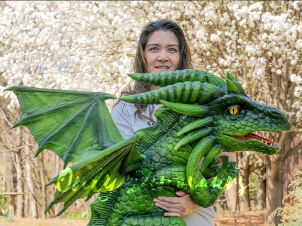 Realistic-Flying-Green-Baby-Dragon-Puppet4