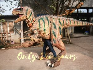 Realistic Hairy T-rex Costume with Hidden legs