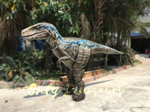 Realistic  Single-man Velociraptor Costume with Hidden Legs