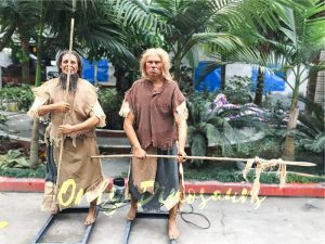 Two Animatronic Primitive Men for Park Show
