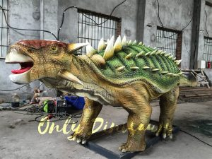 Unique Green Animatronic Ankylosaur with Fine Details