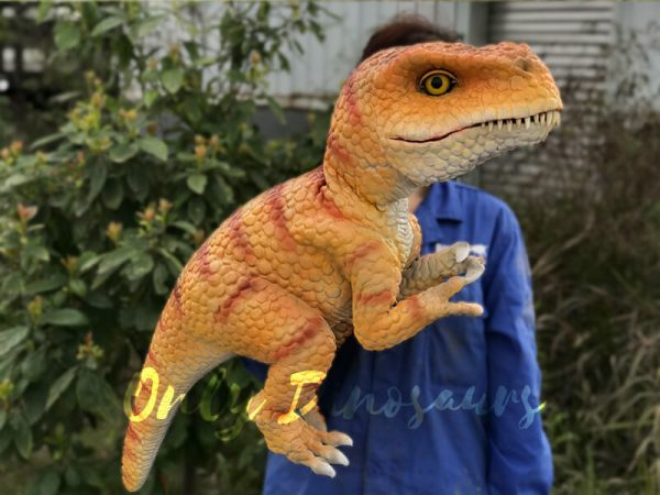 Yellow-Handheld-Baby-Tyrannosaurus-Puppet-with-Adorable-appearance1