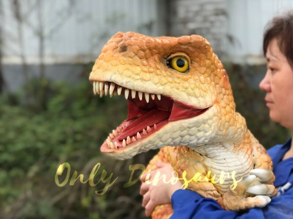Yellow-Handheld-Baby-Tyrannosaurus-Puppet-with-Adorable-appearance2