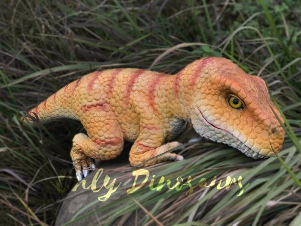Yellow-Handheld-Baby-Tyrannosaurus-Puppet-with-Adorable-appearance5