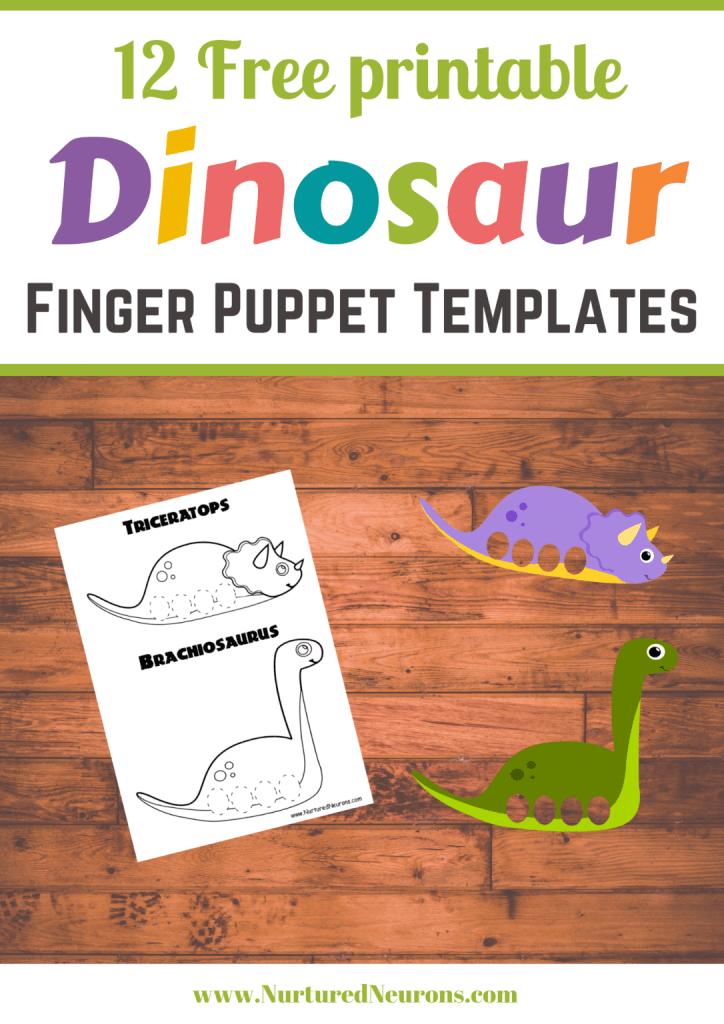 Dinosaur-Finger-Puppet-Templates-printable-Craft-Nurtured-Neurons