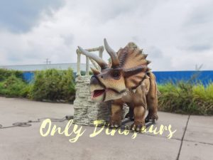 Electric Triceratops Ride Powered by Remote Control