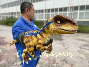 Fantastic Raptor Dinosaur Full-body Hand Puppet