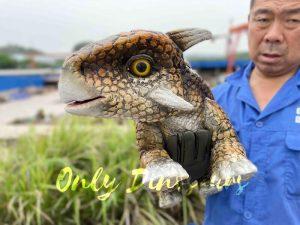 Intriguing Baby Ankylosaur Hand Puppet