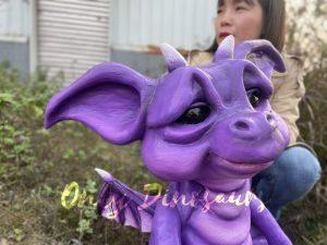 Purple Flying Dragon Hand Puppet