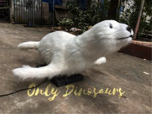 Realistic Cute Animatronic Animal Snow Seal for Show