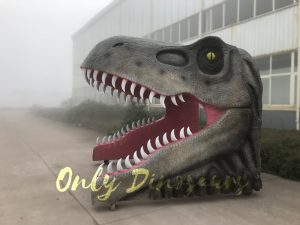 Realistic Dino T-Rex Head Gate Entrance for Park