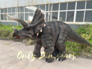 Vivid Single Man Triceratops Dinosaur Costume