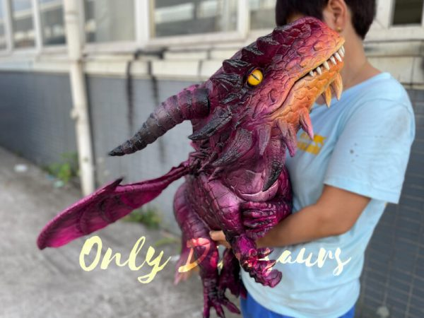 Adorable-Baby-Dragon-Hand-Puppet-for-Cosplay-Party2