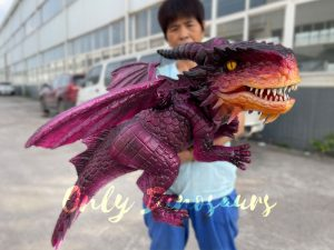 Adorable Baby Dragon Hand Puppet for Cosplay Party