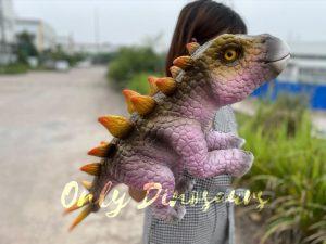 Cute Baby Dinosaur Stegosaurus Hand Puppet