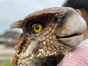 Realistic Dinosaur Baby Ankylosaur False Arm Puppet