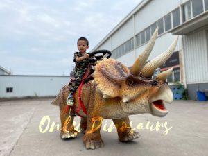Wonderful Walking Dinosaur Triceratops Kids Ride
