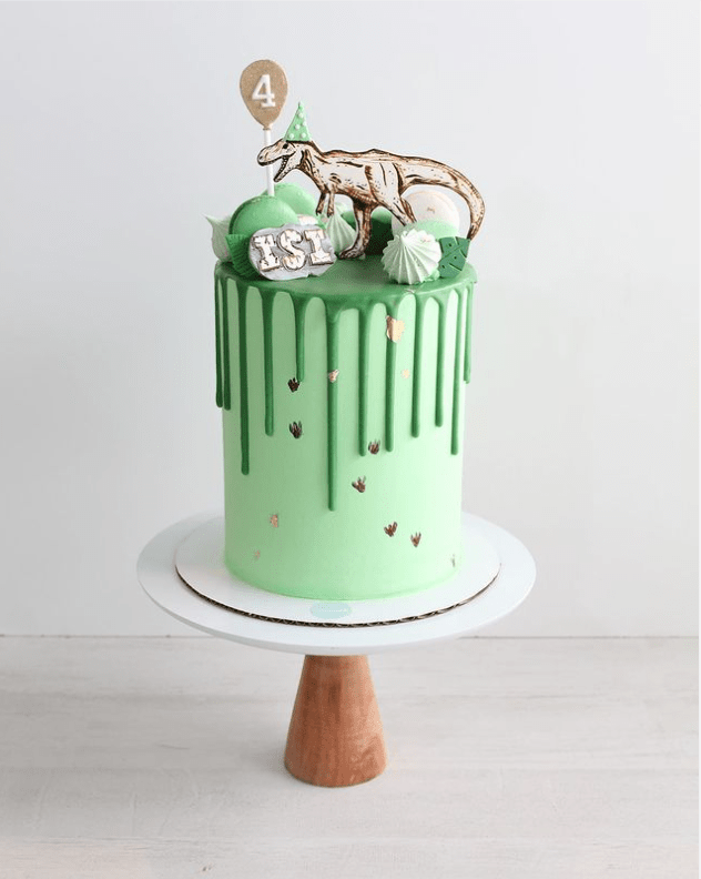 35-Unique-Dinosaur-Cake-Ideas-Everybody-Will-Love-Enjoy-Green-Dinosaur-Drip-Cake